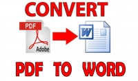 كتابة أوراق مسحوبة بالاسكانر أو ملفات pdf في ملف word