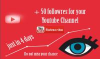 أضيف 50 متابعا لقناة يوتيوب الخاص بك