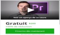 كوبون لتعلم تصميم الفيديوهات Adobe Premiere Pro مجانا شهادة