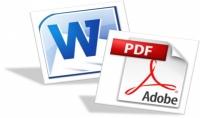 ادخال البيانات وتفريغ أي محتوي  ورقي صوتي PDF  وكتابتها ببرنامج Word