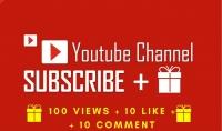 65 مشترك لقناتك ع يوتيوب   هدية   100 مشاهده   100 اعجاب   10 تعليقات