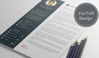 تصميم سيرة ذاتية بتصاميم عالمية 2017 بالانجليزية والعربية