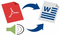 تحويل 100 صفحة PDF أو ساعة من ملف صوتي إلى وورد بـ5 دولار فقط