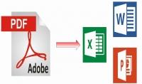 تحويل ملف pdf أو صورة إلى ملف Word أو Power point أو Excel