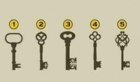 بتحليل شخصيتك عن طريق اختيارك لاحد الخمس مفاتيح الموضحه في الصوره