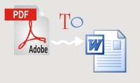 كتابة محتوى pdf على ملف word