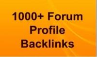 إنشاء أكثر من 1000 HQ PR forum profile backlinks