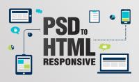 تحويل اي قالب PSD لصفحه HTML5 و CSS3 متجاوب مع جميع الاجهزة.