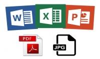 تحويل word jpg powerpoint excel من والى pdf