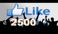 2500 لايك لمنشورك على الفيس بوك