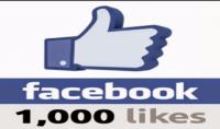 زيادة عدد الاعجابات بصفحتك على الفايسبوك حوالي 1000 فما فوق