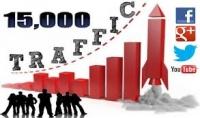 أجلب 15000 زيارة حقيقية لموقعك أو مدونتك