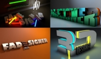 تصميم شعار ثري دي 3D باسمك أو اسم شركتك أو أصحابك أو معارفك