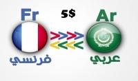 ترجمة نص من 300 كلمة من الفرنسية الى العربية أو العكس