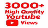 3000 الاف مشاهدة حقيقية لأي فيديو على اليوتوب