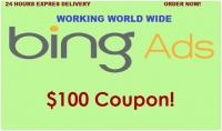 اعطائك كوبون اعلاني بقيمة 100 دولار في شبكة Bing Ads