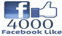 اضافه 4000 لايك اجنبي لصفحتك علي الفيس بوك مع ضمان عدم النقصان