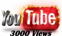 3000 مشاهده يوتيوب حقيقية ضمان عدم النقصان