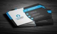 تصميم business card بأشكال جذابة