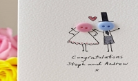 تصميم تهنئة أو دعوة لحفل زفاف بأشكال جذابة