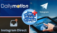 خدمات سوشيال ميديا متنوعة Linkedin Telegram Dailymotion