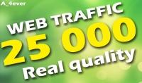 25000 زائر حقيقي لموقعك من محركات البحت و مواقع التواصل