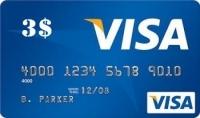 بطاقة فيزا مشحونة ب 3$ من حسابي الخاص