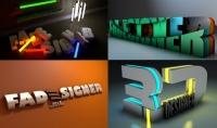 تصميم شعار 3D فديو باسمك أو اسم شركتك أو أصحابك أو معارفك كلمة واحدة فقط