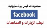 مجموعة من اكبر جروبات الفيس بوك لجلب الزوار