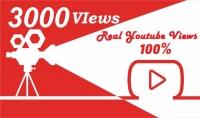 3.000 مشاهدة يوتيوب حقيقية %100