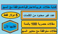 كتابة مقالات عربية احترافية متوافقة مع معايير السيو عدد كلمات غير محدود