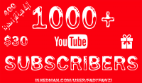 جلب  1000 مشترك حقيقي وآمن 100% لحسابك وقناتك على اليوتيوب   في أقل من أسبوع     هدايا ومميزات رائعة جدًا