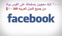 6000 لايك لصفحتك على الفيس بوك معجبين عرب