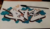 رسم اسم او شعار بفن الجرافيتي بالعربية او الفرنسية