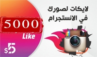 اضافة 5000 لايك حقيقي عالي الجودة لصورك في انستغرام   هدية