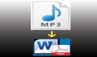 تفريغ نصف ساعة صوتية  عربي فقط   وتحويلها لـ DOC أو PDF