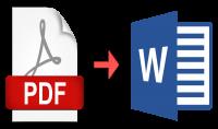 تحويل البيانات المكتوبة في PDF الى ال WORD بكل احترافية ودقة
