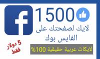 لايك عربي حقيقي 100% لصفحتك علي الفيس بوك