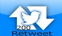 200 رتويت عربي حقيقية و مضمونة