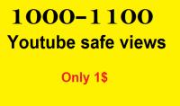 امنح 1000 1100 من المشاهدات عالية للاحتفاظ Youtube بمبلغ $ 5