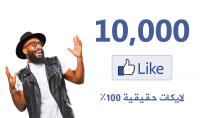 احصل علي 10 الاف لايك حقيقي 100 % لصفحتك علي الفيس بوك