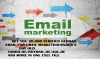 سأقوم بإعطائك 20000 إميل نشيط 2018  ألماني أمريكي إنجليزي  للتسويق الإلكتروني من أي مجال تريد