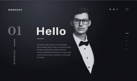 ساقوم بتصميم موقع سيرة ذاتية صفحة واحدة HTML CSS
