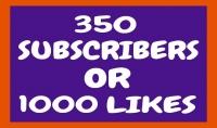 اضافة 300مشترك وا 1000متابع لقناتك  لايكات لفيديوهاتك بسرعه وزيارات حقيقيه