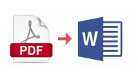 تحويل بيانات من ملف pdf أو مصورة بالماسح إلى ملف Word