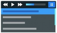 عمل قائمة تشغيل موسيقى  audio playlist  بالغات html  css  javascript بأى شكل تريده