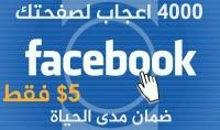 8000معجب لصفحتك علي الفيسبوك سريع من جميع الدول مقابل5$