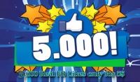 أضف لك 5000 اعجاب حقيقيين الى منشورك او صورتك في الفيسبوك
