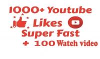 أقدم لك 1000 لايك لأي فيديو على اليوتيوب  هدية فقط ب 5 دولار