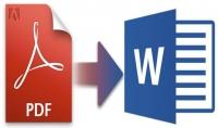 تحويل ملف PDF الى ملف word